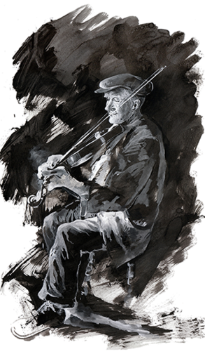 Player-Indian ink on Paper-2009