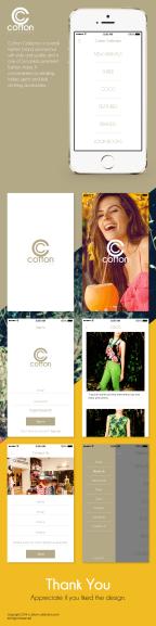 iOS App Concept Desigh for Cotton Collection
