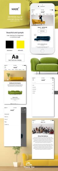 Made_Concept Design for iOS Mobile App