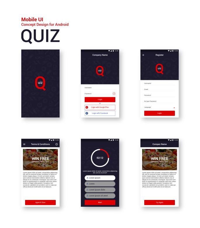quiz_android_ui _design_portfolio